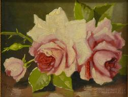 John Clinton Spencer (American, 1861-1919)      Still Life with Pink Roses