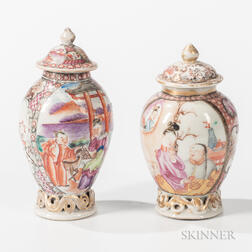 Two Small Export Porcelain Jars