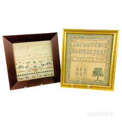 Two Small Framed Needlework Samplers