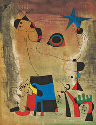 After Joan Miró (Spanish, 1893-1983)      Le chien bleu