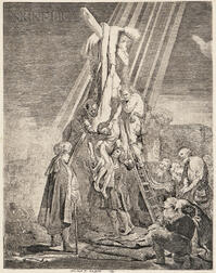 Rembrandt Harmensz van Rijn (Dutch, 1606-1669)      The Descent from the Cross