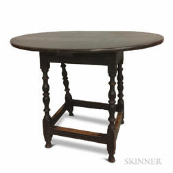Black-painted Maple and Pine Tavern Table