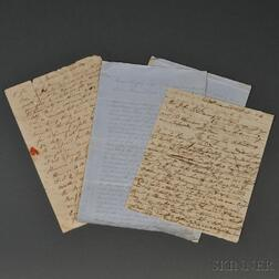 War of 1812, Battle of Baltimore, Two Letters, Two Indentures.