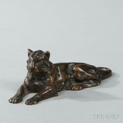 Tiffany Studios Bronze Lion Paperweight