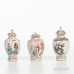 Three Small Export Porcelain Jars