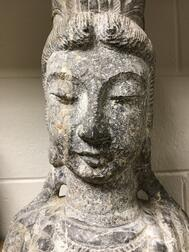 Limestone Head Bust of Guanyin