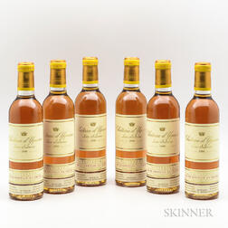 Chateau dYquem 1999, 6 demi bottles