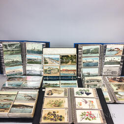 Extensive Collection of New England and Island Postcards