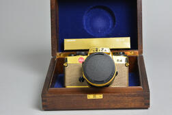 "Leica R4 ""Gold"" Camera with Original Box and Papers"