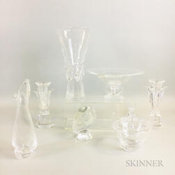 Five Pieces of Steuben Glassware