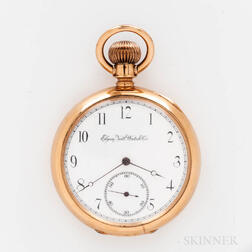 Elgin National Watch Co. 18kt Gold Open-face Watch