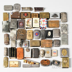 Group of Military Match Cases