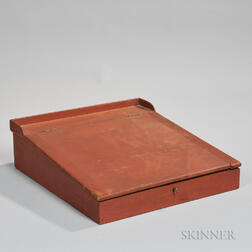 Red-painted Poplar Lap Desk
