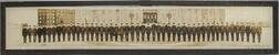 Framed Yard-long Photo of a Naval Officers' Class.
