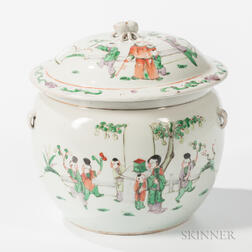 Export Porcelain Covered Jar