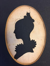 Four Silhouette Portraits of the Morrill Family