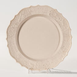 "Staffordshire Press-molded Salt-glazed ""Success to the King of Prussia and His Forces"" Stoneware Plate"