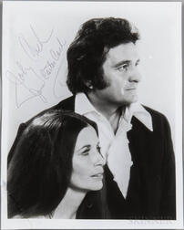 Cash, Johnny (1932-2003) and June Carter Cash (1929-2003) Signed Photograph.