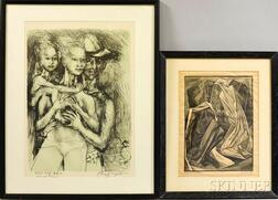 Two Framed Prints:      Philip Evergood (American, 1901-1973), Family