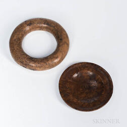 Two Burl Items