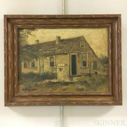 American School, 19th/20th Century       Portrait of a Cottage.