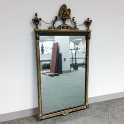 Neoclassical Molded and Painted Mirror