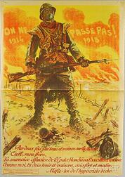 Maurice Neumont On Ne Passe Pas   French WWI Lithograph Poster