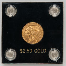 1925-D $2.50 Indian Head Gold Coin.     Estimate $200-400