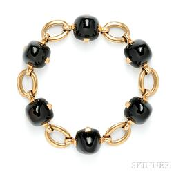 18kt Gold and Onyx Bracelet, Marzo