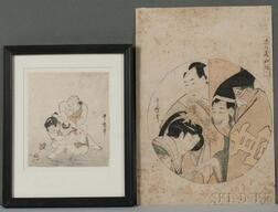 Kikugawa Utamaro (1753-1806), Two Woodblock Prints