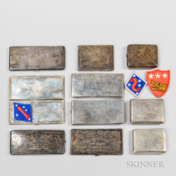 Nine China-related Silver Cigarette Cases
