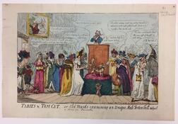 Caricature and Satirical Prints, England, Thirty-eight Examples, Late 18th to Early 19th Century.