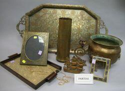 Group of Assorted Metal and Other Decorative Items