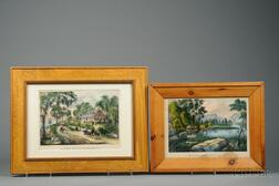 Currier & Ives, publishers (American, 1857-1907)       Lot of Two Works: Looking Down the Yo-semite.