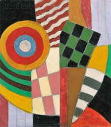 School of Marsden Hartley (American, 1877-1943)      Untitled [Abstract Composition]
