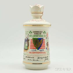 Old Fitzgerald American Sons of St. Patrick Bottle, 1 4/5-quart bottle