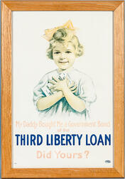 Framed Third Liberty Loan   Poster