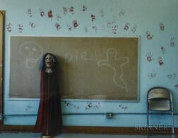 Jim Dow (American, b. 1942)      Classroom Set Up for Halloween, Hannaford School, North Dakota