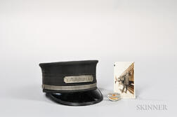 "Pullman Badge, ""Trainman"" Hat, and Photograph.     Estimate $150-250"