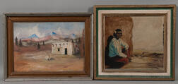 Two Southwest Oil on Canvas Paintings