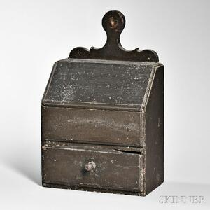 Black-painted Lidded Wall Box