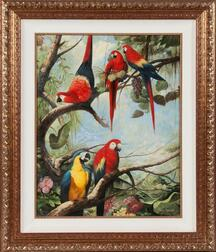 Ray Jacob (American, 20th Century)      Parrots