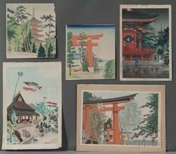 Five Woodblock Prints