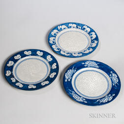 Three Dedham Pottery Plates
