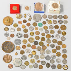 Approximately 100 U.S. Military Challenge Coins and Related Items
