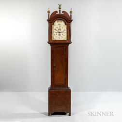 Grain-painted Pine Tall Clock