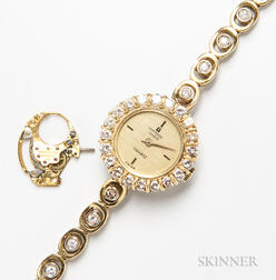 Universal Geneve 18kt Gold and Diamond Lady's Wristwatch
