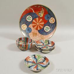 Six Pieces of Japanese Imari Porcelain