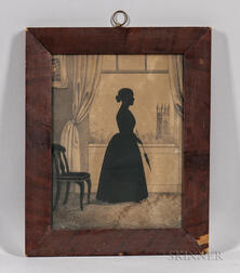 Full-length Silhouette of Lady