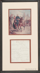 Framed Winfield Scott Note